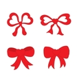 Hand drawn sketch of red festive bows in the shape vector image