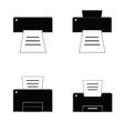 printer black and white vector image