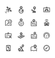 Simple Satellite Navigation Icons vector image vector image