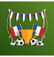france football decoration vector image vector image