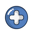 cross clinic symbol to healthcare people vector image
