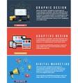 Icons for web design seo social media vector image