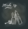 makeup on the blackboard vector image