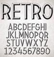 Metal Embossed Font vector image