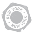 New York stamp vector image