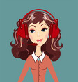 smiling call center woman operator vector image