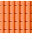 Tiled roof seamless pattern vector image