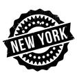 New York stamp vector image