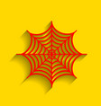 spider on web   red icon with vector image