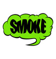 smoke word icon cartoon vector image