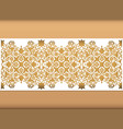 laser cut floral arabesque ornament pattern vector image