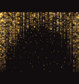 abstract gold glitter lights background vector image