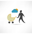 father with sidecar in good weather icon vector image vector image