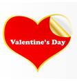 heart sticker vector image vector image