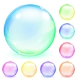 Multicolored opaque glass spheres vector image vector image