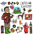 Travelling attractions - United Kingdom vector image