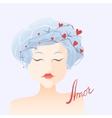 Amor Girl in love vector image
