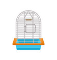 cage for bird isolated icon vector image