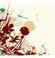 floral dragonfly background vector image