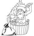 Jolly Santa Claus vector image