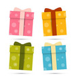 Paper Gift Boxes Set Isolated on White Background vector image
