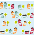 Paper town seamless pattern vector image
