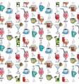 Seamless pattern with various drinks and cocktails vector image