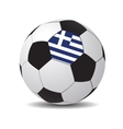 soccer ball with the flag of Greece vector image