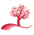 Tree of love vector image
