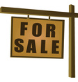 Wooden for sale sign vector image
