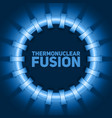 Abstract of thermonuclear fusion vector image