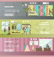 set of fashion atelier horizontal banners vector image