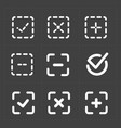 white confirm icons set vector image