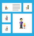 flat icon people set of grandson father mother vector image