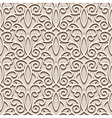 Lacy beige pattern vector image