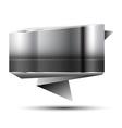 Steel banner vector image vector image