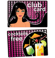 club card vector image