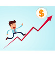 going up to the success vector image
