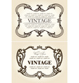 vector vintage beige abstract frames ornament vector image