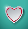 Paper Heart on Turquoise Background vector image
