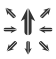 Arrow Icon logo element for template vector image