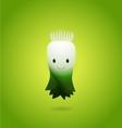 Baby Green Leek Cartoon Character vector image