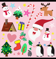 Christmas theme element for love vector image