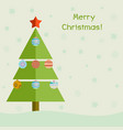 christmas tree with decoration balls christmas vector image