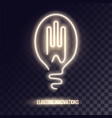 golden white neon logo design vector image