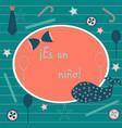 in spanish language baby boy birth announcement vector image