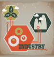 industrial ecology concept vector image
