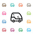isolated golf-car icon leisure element can vector image