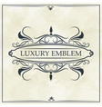 luxury emblem crest elegant template design vector image