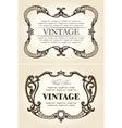 Vector vintage beige abstract frames ornament vector image